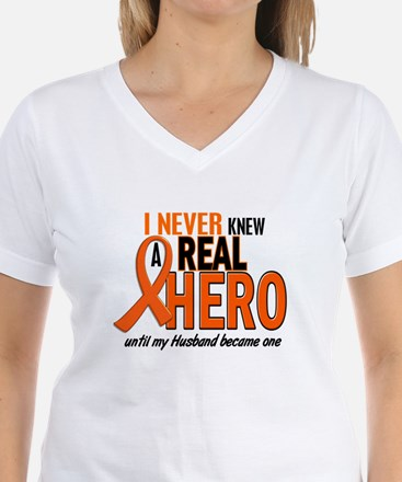 Never Knew A Hero 2 ORANGE (Husband) Shirt