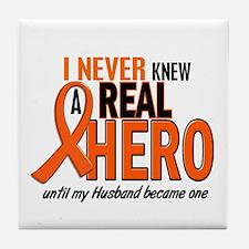 Never Knew A Hero 2 ORANGE (Husband) Tile Coaster