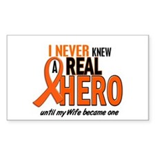 Never Knew A Hero 2 ORANGE (Wife) Decal