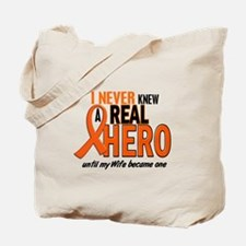 Never Knew A Hero 2 ORANGE (Wife) Tote Bag