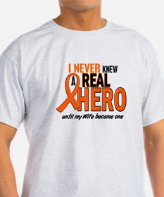 Never Knew A Hero 2 ORANGE (Wife) T-Shirt