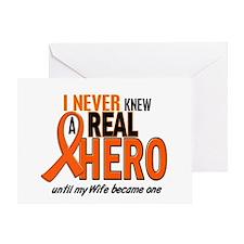 Never Knew A Hero 2 ORANGE (Wife) Greeting Card