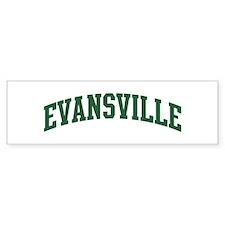 Evansville (green) Bumper Bumper Sticker