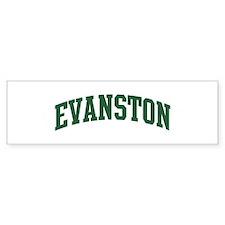 Evanston (green) Bumper Sticker (50 pk)