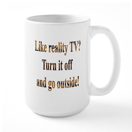 Turn off the TV & Go Outside Large Mug