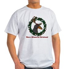 Reindeer BT Weiner Dog T-Shirt