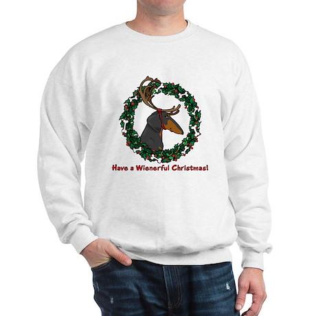 Reindeer BT Weiner Dog Sweatshirt