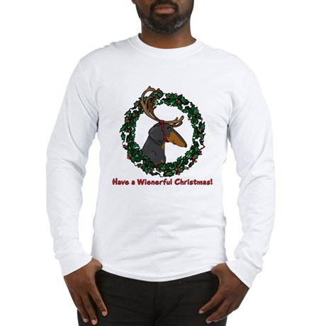 Reindeer BT Weiner Dog Long Sleeve T-Shirt