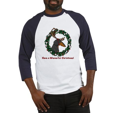 Reindeer BT Weiner Dog Baseball Jersey