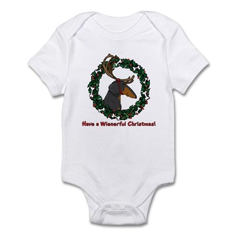 Reindeer BT Weiner Dog Infant Bodysuit