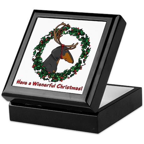 Reindeer BT Weiner Dog Keepsake Box