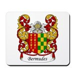 Bermudes Family Crest Mousepad