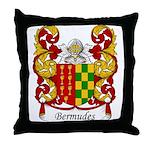 Bermudes Family Crest Throw Pillow