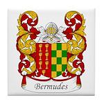 Bermudes Family Crest Tile Coaster