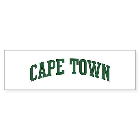 Cape Town (green) Bumper Sticker