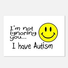 I'm Not Ignoring You, I Have Autism Postcards (Pac