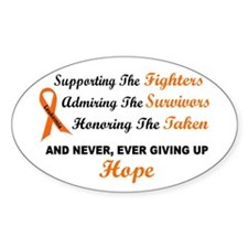 Supporting Admiring Honoring 1 LEUKEMIA Decal