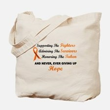 Supporting Admiring Honoring 1 LEUKEMIA Tote Bag