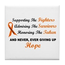 Supporting Admiring Honoring 1 LEUKEMIA Tile Coast