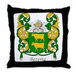 Bezerra Family Crest Throw Pillow