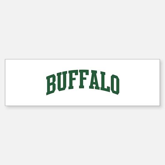 Buffalo (green) Bumper Bumper Bumper Sticker