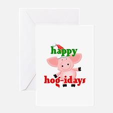 happy hog-idays Greeting Card
