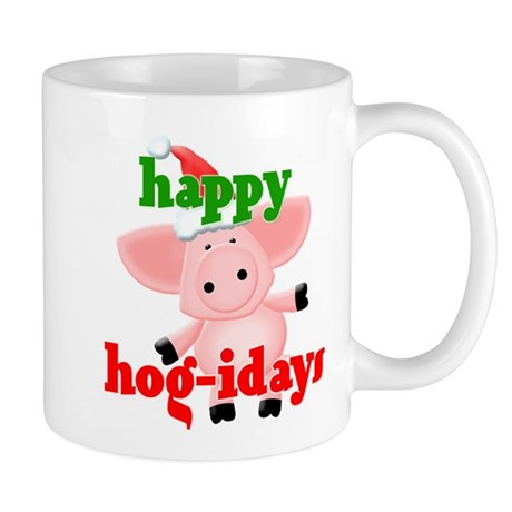 happy hog-idays Mug