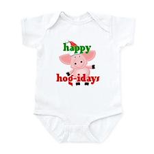 happy hog-idays Infant Bodysuit