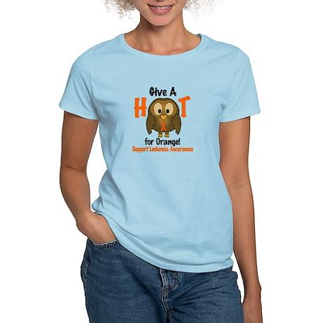Give A Hoot 3 LEUKEMIA Women's Light T-Shirt