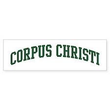 Corpus Christi (green) Bumper Bumper Sticker