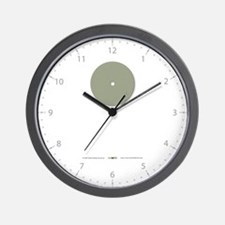 """One"" in Sage Wall Clock"