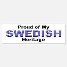 Proud Swedish Heritage Bumper Bumper Bumper Sticker