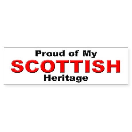 Proud Scottish Heritage Bumper Sticker