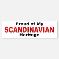Proud Scandinavian Heritage Bumper Bumper Bumper Sticker