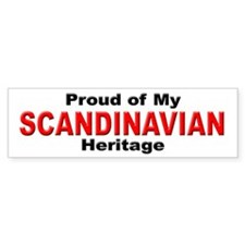 Proud Scandinavian Heritage Bumper Bumper Sticker