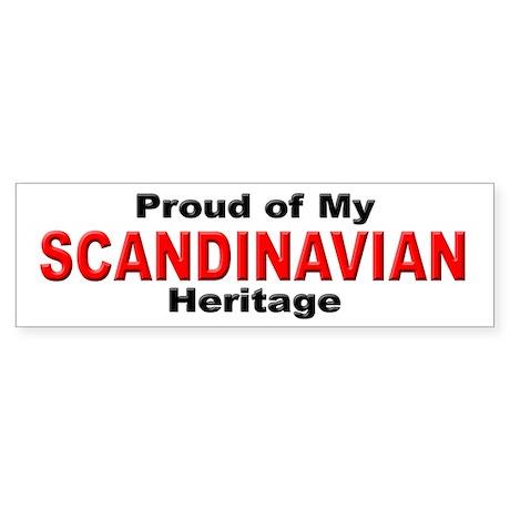 Proud Scandinavian Heritage Bumper Sticker
