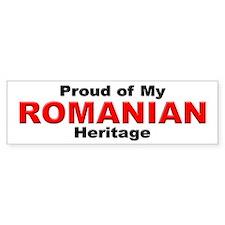 Proud Romanian Heritage Bumper Bumper Sticker