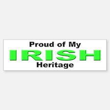 Proud Irish Heritage Bumper Bumper Bumper Sticker