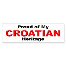Proud Croatian Heritage Bumper Bumper Sticker