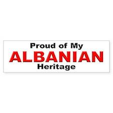 Proud Albanian Heritage Bumper Bumper Sticker