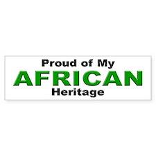 Proud African Heritage Bumper Bumper Sticker