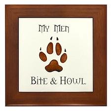 My men Bite & Howl Framed Tile