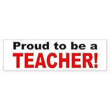 Proud Teacher Bumper Bumper Bumper Sticker