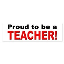 Proud Teacher Bumper Car Sticker