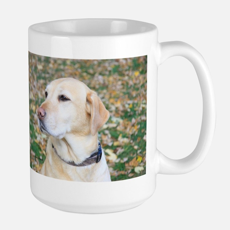 Yellow Lab #2 Portrait Large Mug