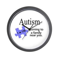 Autism, Coming To A Family Near You Wall Clock