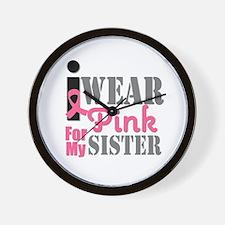 IWearPink Sister Wall Clock