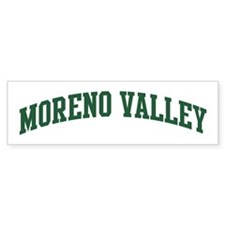 Moreno Valley (green) Bumper Bumper Sticker