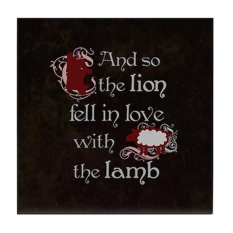 Twilight Lion and Lamb Tile Coaster