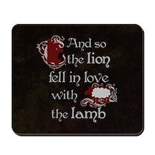Twilight Lion and Lamb Mousepad